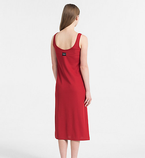 CALVIN KLEIN JEANS Rib Jersey Maxi Dress - TANGO RED - CALVIN KLEIN JEANS PACK YOUR BAG - detail image 1