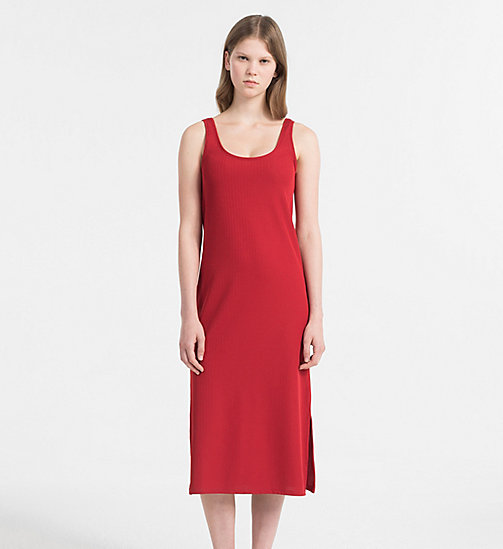CALVIN KLEIN JEANS Rib Jersey Maxi Dress - TANGO RED - CALVIN KLEIN JEANS PACK YOUR BAG - main image