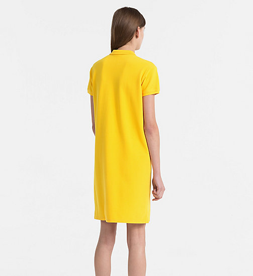 CALVIN KLEIN JEANS Cotton Piqué Polo Dress - SPECTRA YELLOW - CALVIN KLEIN JEANS DRESSES - detail image 1