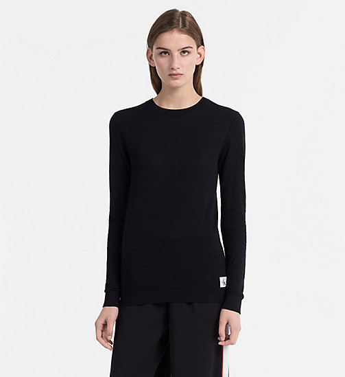 CALVIN KLEIN JEANS Cotton Wool Jumper - CK BLACK - CALVIN KLEIN JEANS CLOTHES - main image
