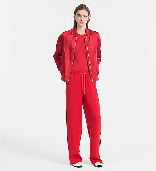 CALVIN KLEIN JEANS Cotton Wool Jumper - TANGO RED - CALVIN KLEIN JEANS CLOTHES - detail image 1