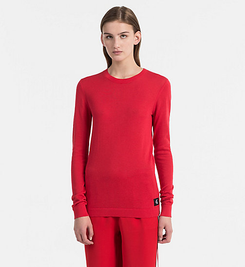 CALVIN KLEIN JEANS Cotton Wool Jumper - TANGO RED - CALVIN KLEIN JEANS CLOTHES - main image