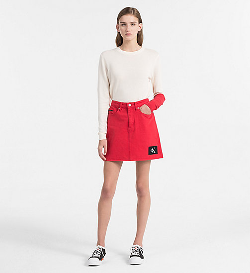 CALVIN KLEIN JEANS Colour Block Sweater - PEARLED IVORY - CALVIN KLEIN JEANS NEW IN - detail image 1