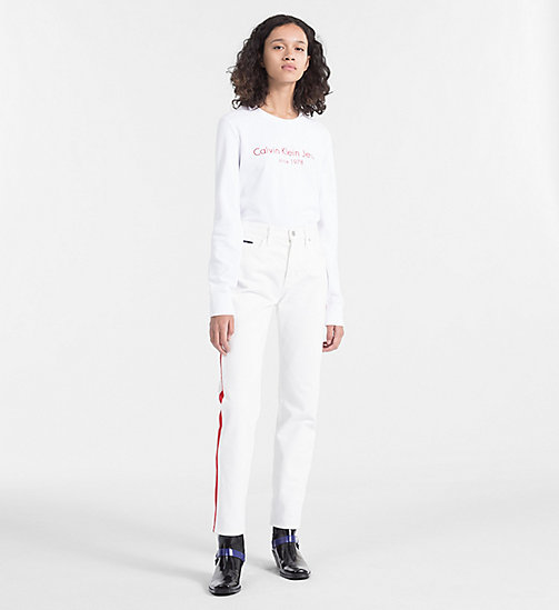 CALVIN KLEIN JEANS Embroidered Logo Sweatshirt - BRIGHT WHITE - CALVIN KLEIN JEANS NEW IN - detail image 1