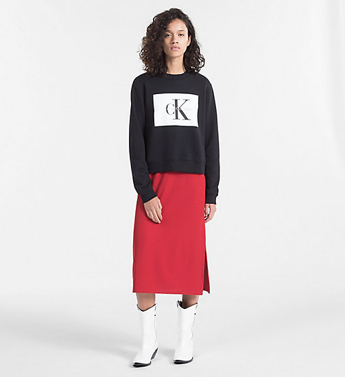 CALVIN KLEIN JEANS Block Logo Sweatshirt - CK BLACK / BRIGHT WHITE - CALVIN KLEIN JEANS TRUE COLOURS - detail image 1
