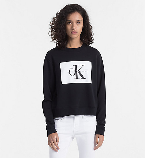 CALVIN KLEIN JEANS Block Logo Sweatshirt - CK BLACK / BRIGHT WHITE - CALVIN KLEIN JEANS TRUE COLOURS - main image