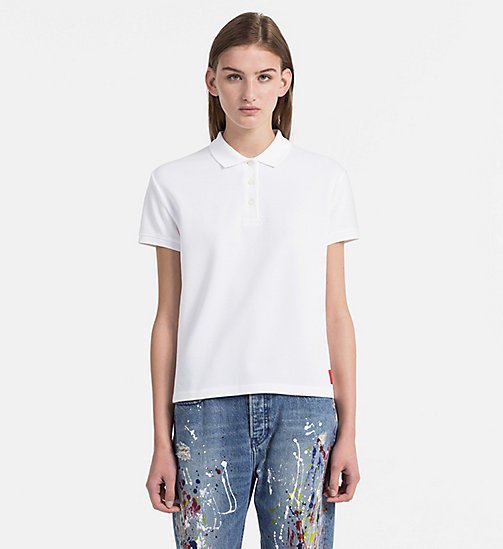 CALVIN KLEIN JEANS Cotton Piqué Polo - BRIGHT WHITE - CALVIN KLEIN JEANS NEW IN - main image