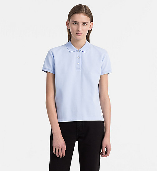 CALVIN KLEIN JEANS Cotton Piqué Polo - CHAMBRAY BLUE - CALVIN KLEIN JEANS NEW IN - main image