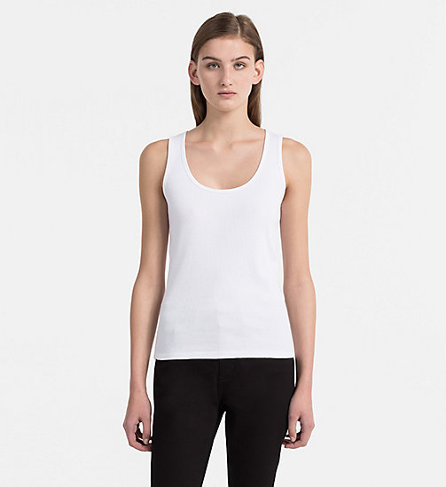 CALVIN KLEIN JEANS Rib-Jersey Tank Top - BRIGHT WHITE - CALVIN KLEIN JEANS NEW IN - main image