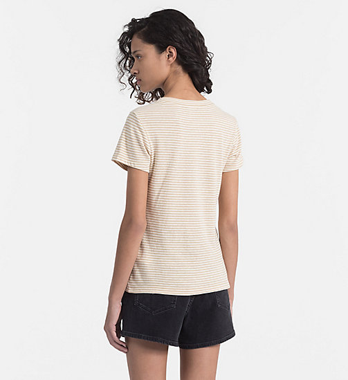 CALVIN KLEIN JEANS Basic Stripe T-shirt - SAFARI / PEARLED IVORY - CALVIN KLEIN JEANS NEW IN - detail image 1