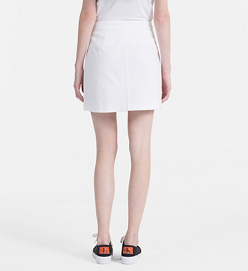 CALVIN KLEIN JEANS Canvas Mini Skirt - BRIGHT WHITE - CALVIN KLEIN JEANS DRESSES & SKIRTS - detail image 1