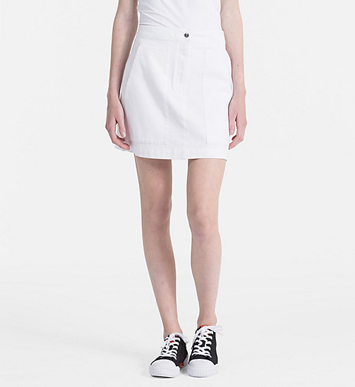 CALVIN KLEIN JEANS Canvas Mini Skirt - BRIGHT WHITE - CALVIN KLEIN JEANS PACK YOUR BAG - main image