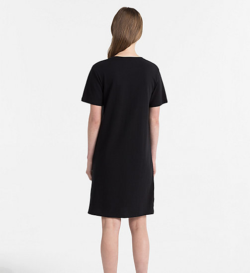 CALVIN KLEIN JEANS Logo T-shirt Dress - CK BLACK - CALVIN KLEIN JEANS DRESSES & SKIRTS - detail image 1
