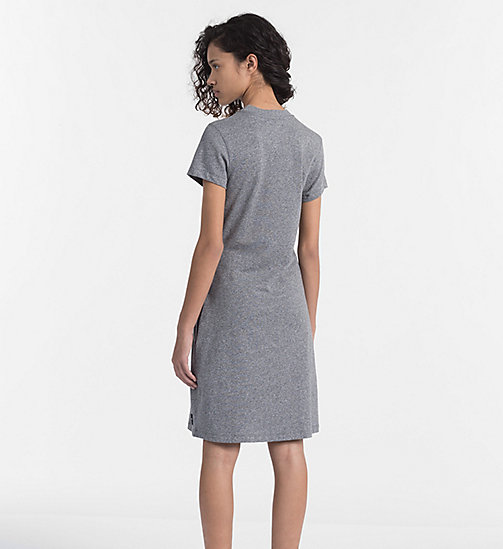 CALVIN KLEIN JEANS Cotton Terry Dress - LIGHT GREY HEATHER - CALVIN KLEIN JEANS DRESSES & SKIRTS - detail image 1