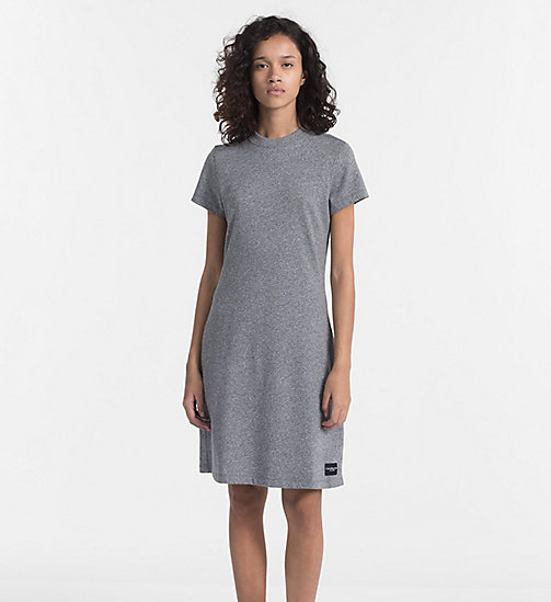 CALVIN KLEIN JEANS Cotton Terry Dress - LIGHT GREY HEATHER - CALVIN KLEIN JEANS DRESSES & SKIRTS - main image