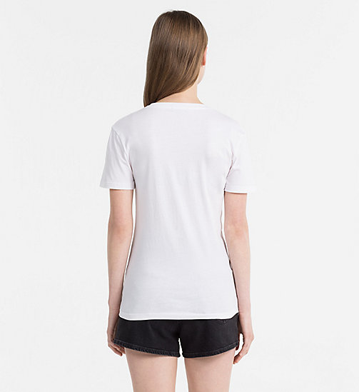 CALVIN KLEIN JEANS Embroidered T-shirt - BRIGHT WHITE - CALVIN KLEIN JEANS T-SHIRTS - detail image 1