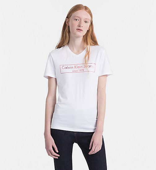 CALVIN KLEIN JEANS Logo-T-Shirt - BRIGHT WHITE -  NEW IN - main image