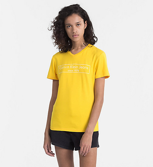 CALVIN KLEIN JEANS Logo-T-Shirt - SPECTRA YELLOW -  NEW IN - main image