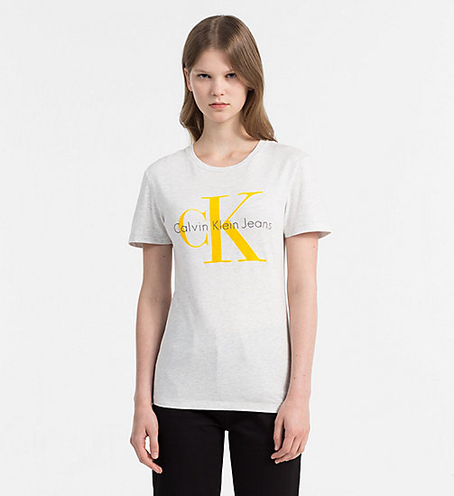CALVIN KLEIN JEANS Logo T-shirt - WHITE HEATHER - CALVIN KLEIN JEANS GIFTS - main image
