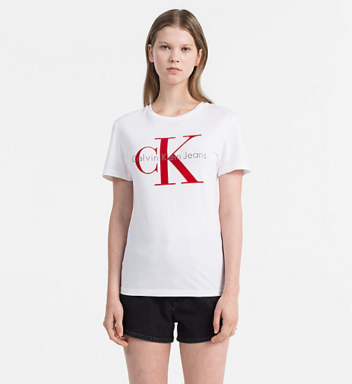 CALVIN KLEIN JEANS Logo T-shirt - BRIGHT WHITE / TANGO RED - CALVIN KLEIN JEANS NEW IN - main image