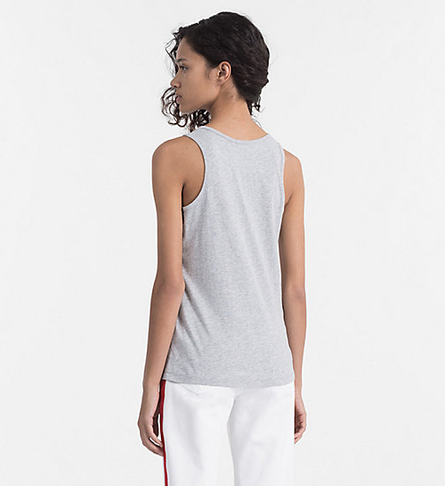 CALVIN KLEIN JEANS Logo Tank Top - LIGHT GREY HEATHER - CALVIN KLEIN JEANS T-SHIRTS - detail image 1
