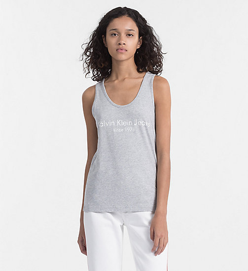 CALVIN KLEIN JEANS Logo Tank Top - LIGHT GREY HEATHER - CALVIN KLEIN JEANS T-SHIRTS - main image