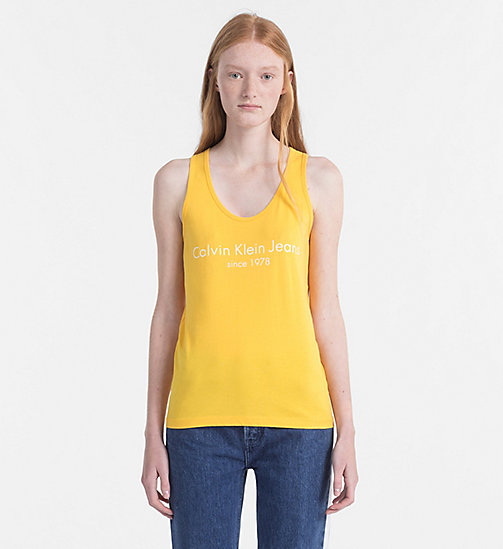 CALVIN KLEIN JEANS Logo-Tanktop - SPECTRA YELLOW - CALVIN KLEIN JEANS NEW IN - main image