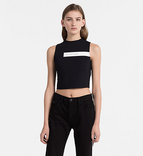 CALVIN KLEIN JEANS Milano Jersey Tank Top - CK BLACK - CALVIN KLEIN JEANS NEW IN - main image