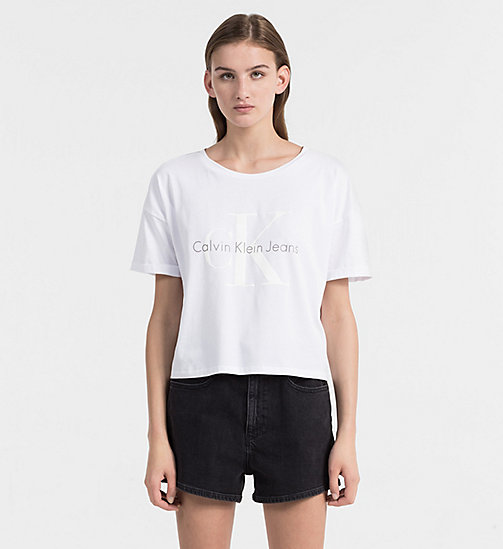 CALVIN KLEIN JEANS Logo-T-Shirt - BRIGHT WHITE - CALVIN KLEIN JEANS NEW IN - main image