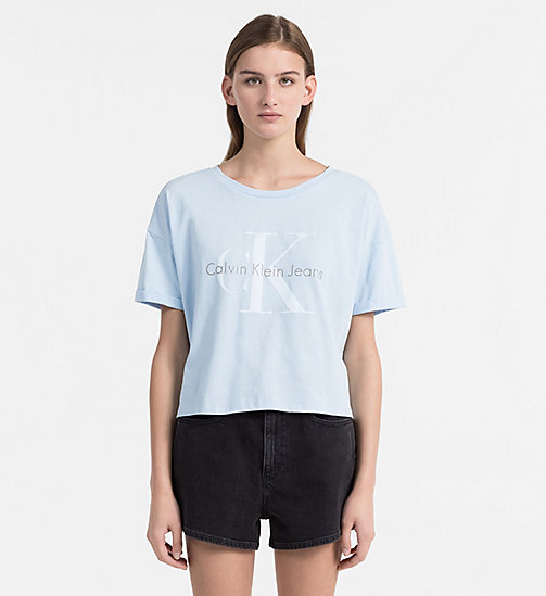 CALVIN KLEIN JEANS Logo T-shirt - CHAMBRAY BLUE - CALVIN KLEIN JEANS BLUES MASTER - main image
