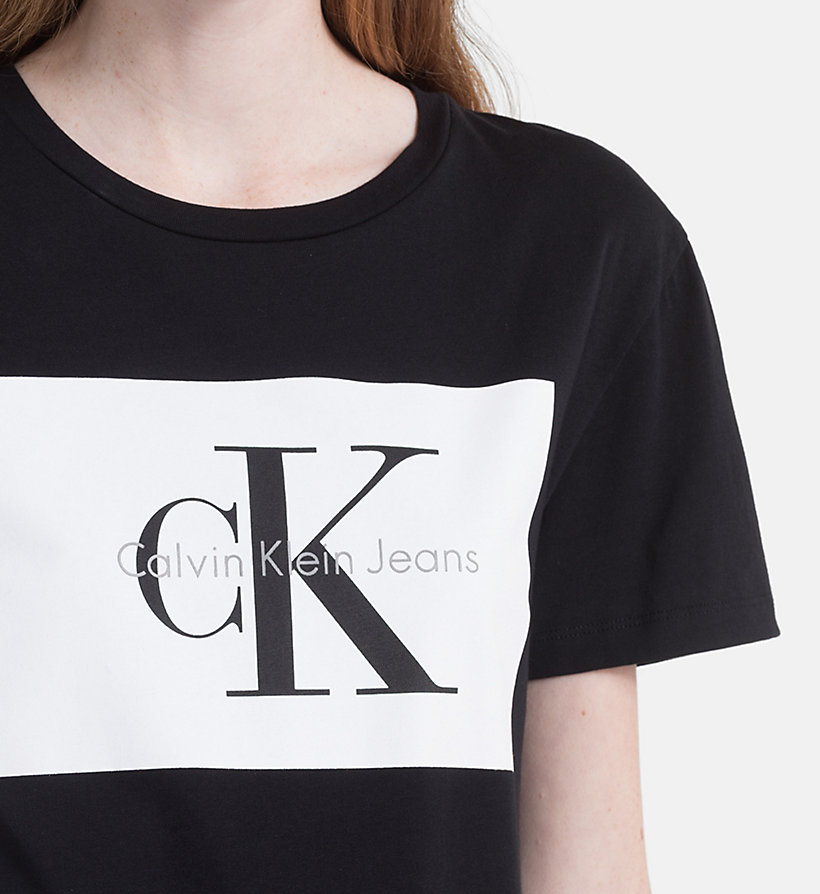 CALVIN KLEIN JEANS Logo T-shirt - PEARLED IVORY / BRIGHT WHITE - CALVIN KLEIN JEANS WOMEN - detail image 2