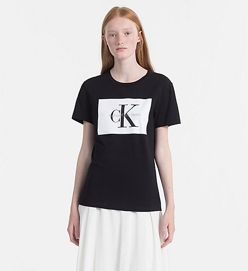 CALVIN KLEIN JEANS Logo T-shirt - CK BLACK / BRIGHT WHITE - CALVIN KLEIN JEANS TRUE COLOURS - main image