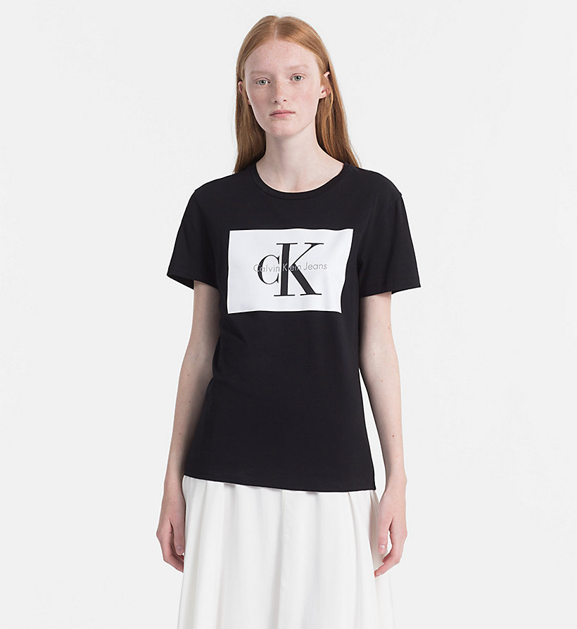 CALVIN KLEIN JEANS T-shirt avec logo - PEARLED IVORY / BRIGHT WHITE - CALVIN KLEIN JEANS FEMMES - image principale