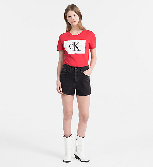 CALVIN KLEIN JEANS Logo-T-Shirt - TANGO RED / BRIGHT WHITE -  NEW IN - main image 1