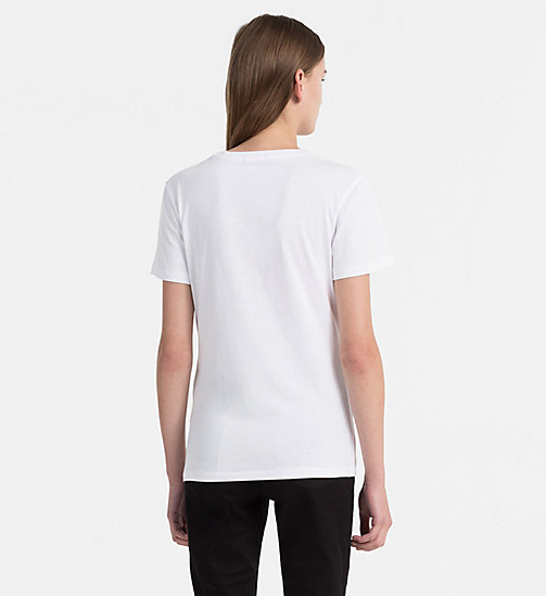 CALVIN KLEIN JEANS Logo T-shirt - BRIGHT WHITE / TANGO RED - CALVIN KLEIN JEANS NEW IN - detail image 1