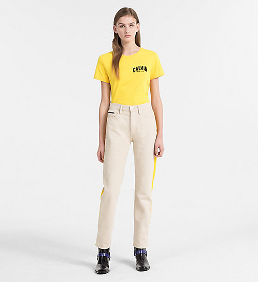 CALVIN KLEIN JEANS Logo T-shirt - SPECTRA YELLOW - CALVIN KLEIN JEANS NEW IN - detail image 1