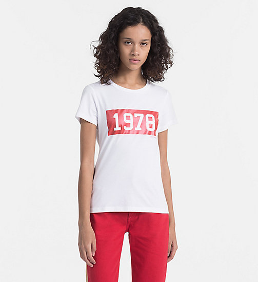 CALVIN KLEIN JEANS Bedrucktes T-Shirt - BRIGHT WHITE / TANGO RED - CALVIN KLEIN JEANS NEW IN - main image