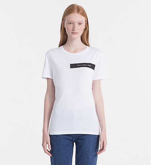CALVIN KLEIN JEANS Logo-T-Shirt - BRIGHT WHITE / CK BLACK -  NEW IN - main image