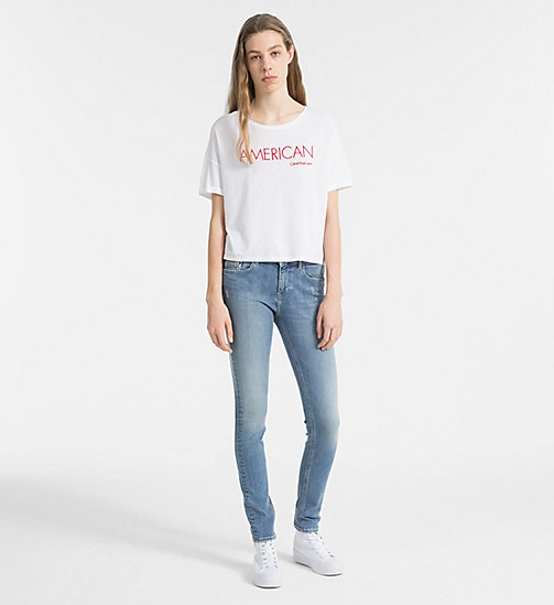 CALVIN KLEIN JEANS Embroidered T-shirt - BRIGHT WHITE - CALVIN KLEIN JEANS TRUE COLOURS - detail image 1