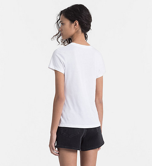 CALVIN KLEIN JEANS Embroidered T-shirt - BRIGHT WHITE - CALVIN KLEIN JEANS HEAT WAVE - detail image 1