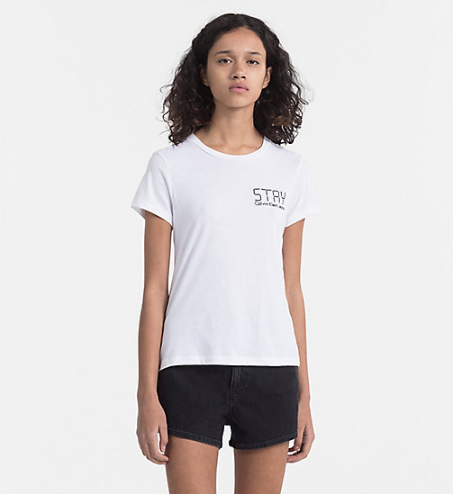 CALVIN KLEIN JEANS Embroidered T-shirt - BRIGHT WHITE - CALVIN KLEIN JEANS HEAT WAVE - main image