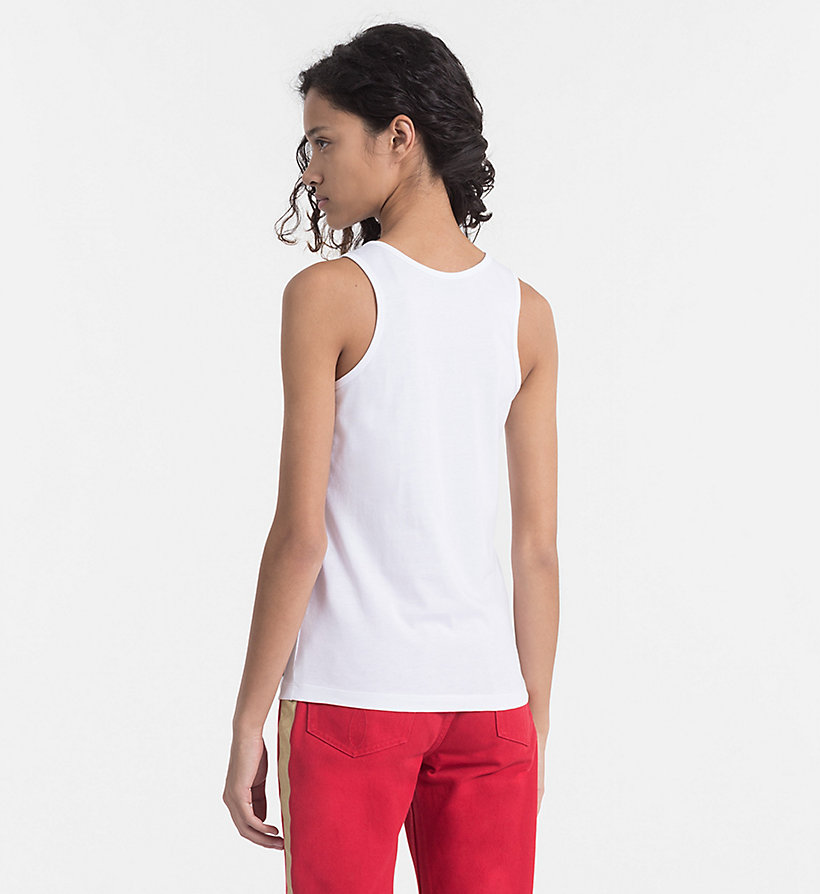 CALVIN KLEIN JEANS Cotton Tank Top - BRIGHT WHITE / CK BLACK - CALVIN KLEIN JEANS WOMEN - detail image 3