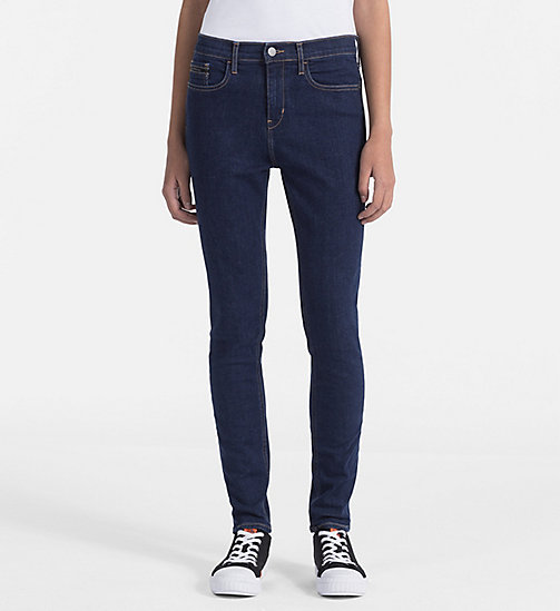 CALVIN KLEIN JEANS High Rise Skinny Ankle Jeans - BANHOF BLUE STR - CALVIN KLEIN JEANS NEW IN - main image