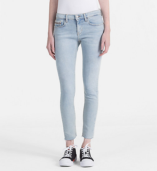 CALVIN KLEIN JEANS High Rise Skinny Ankle Jeans - BERLIN BLUE STR - CALVIN KLEIN JEANS SKINNY JEANS - main image
