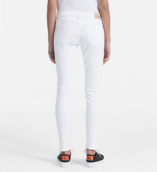CALVIN KLEIN JEANS Mid Rise Skinny Ankle Jeans - GREAT WHITE STR - CALVIN KLEIN JEANS NEW IN - detail image 1