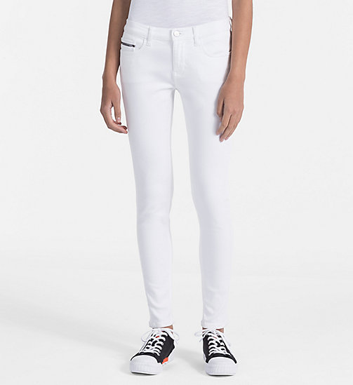 CALVIN KLEIN JEANS Mid Rise Skinny Ankle Jeans - GREAT WHITE STR - CALVIN KLEIN JEANS NEW IN - main image