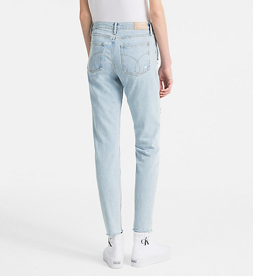 CALVIN KLEIN JEANS High Rise Slim Jeans - SIOUXIE BLUE DESTRUCTED RGD - CALVIN KLEIN JEANS NEW IN - detail image 1