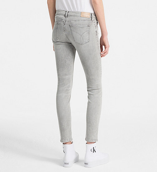 CALVIN KLEIN JEANS Mid Rise Skinny Ankle Jeans - LIGHTNING GREY STR - CALVIN KLEIN JEANS NEW IN - detail image 1