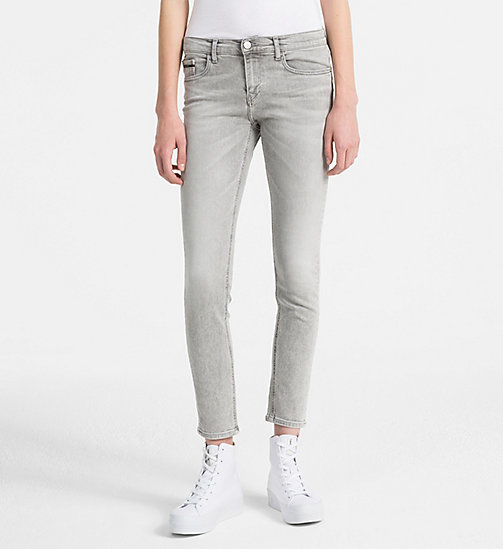 CALVIN KLEIN JEANS Mid Rise Skinny Ankle Jeans - LIGHTNING GREY STR - CALVIN KLEIN JEANS NEW IN - main image