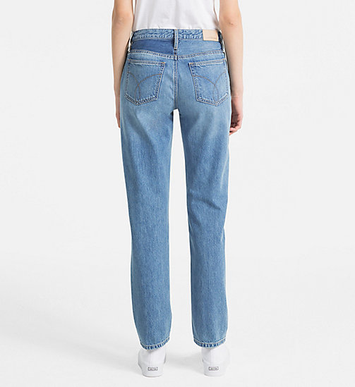 CALVIN KLEIN JEANS High Rise Straight Jeans - LIGHT VERTICAL STR - CALVIN KLEIN JEANS CLOTHES - detail image 1